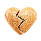 Broken gingerbread heart royalty free stock photo