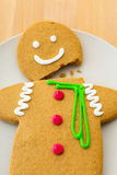 Broken Gingerbread man Royalty Free Stock Photography