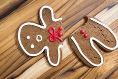 Broken gingerbread man Stock Image