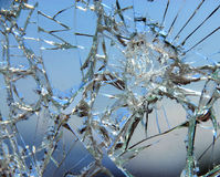 Broken glass 02 Stock Photos