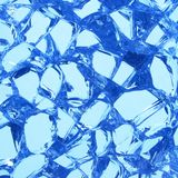 Broken glass. Close-up of shattered window glass Royalty Free Stock Image