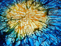 Broken glass. Abstract background broken colourfull glass Stock Photo