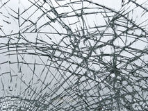 Broken glass. Smashed window close-up royalty free stock photos