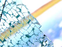 Broken glass Royalty Free Stock Images