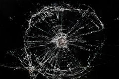 Broken glass window Stock Photos