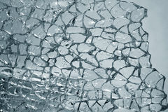 Broken glass. The broken glass with drops is strongly dim Royalty Free Stock Photography