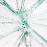 Broken glass. On white background Royalty Free Stock Photo
