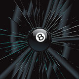 Broken Glass 2 8 Ball Stock Photo