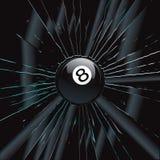 Broken Glass 2 8 Ball. Vector Drawing Stock Photo