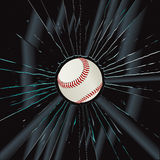 Broken Glass 2 Baseball. Vector Drawing Stock Illustration