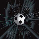 Broken Glass 2 Soccer Ball. Vector Drawing Royalty Free Illustration