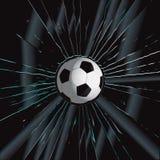 Broken Glass 2 Soccer Ball. Vector Drawing Royalty Free Stock Photo