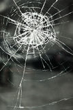 Broken glass. Glass broken by a blow royalty free stock photography