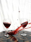 Broken glass. With red wine Royalty Free Stock Photography