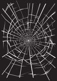 Broken glass. Crashed glass illustration for your design Stock Images