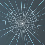 Broken glass. Crashed glass illustration for your design Stock Photos