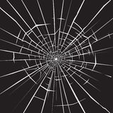 Broken glass. Crashed glass illustration for your design Royalty Free Stock Photography