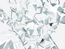Broken glass. Abstract broken glass on white royalty free illustration