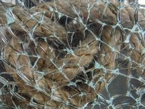 Broken glass Abstract and background.  stock image