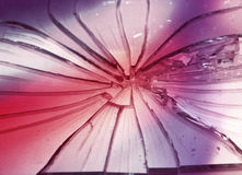 Broken glass - abstract colored background Royalty Free Stock Photography
