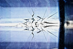 Broken glass, abstract luminescent background Stock Images