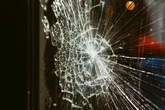 Broken glass against the background stock photo