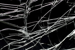 Broken glass against a black background Stock Image