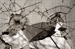 Broken glass background Stock Images