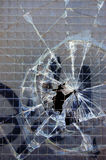 Broken glass background Stock Photos