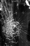 Broken glass background stock photos