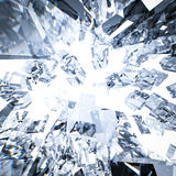 Broken glass background. 3d rendering broken glass background Stock Image