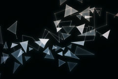 Broken glass background. Polygonal broken glass pattern on dark background. 3D Rendering Stock Images