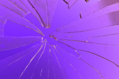 Broken glass. In background purple Stock Photography