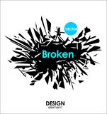 Broken glass or Big Bang  cool design elements Royalty Free Stock Images