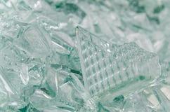 Broken glass block Royalty Free Stock Images