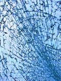 Broken glass blue Stock Photography