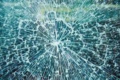 Broken Glass. Blue Broken Glass closeup texture stock image