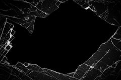 Broken glass. On a black background royalty free stock photos