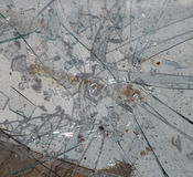 Broken glass, can be used as background Stock Photography