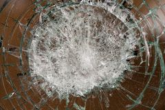 Broken glass of a car royalty free stock images