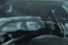 Broken glass on a car Stock Photography