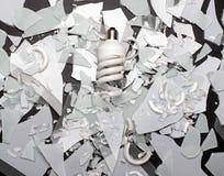 Broken glass chandelier Stock Photos