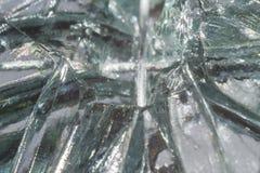 Broken glass close-up. Macro photo abstraction texture beat royalty free stock image