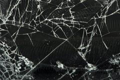 Broken glass. Close up studio shot stock illustration