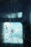 Broken glass. In close up view Stock Images