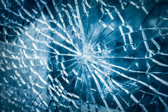 Broken glass closeup Royalty Free Stock Photo
