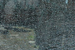 Broken glass with cracks Royalty Free Stock Photography