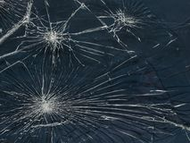 The broken glass.The cracks texture. White and black.  Background.Grunge.Abstract lines Stock Image