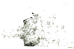 Broken glass. 3d illustration of a broken glass  on white background Stock Photography