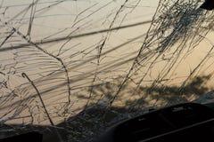 Broken glass in the dark Royalty Free Stock Image
